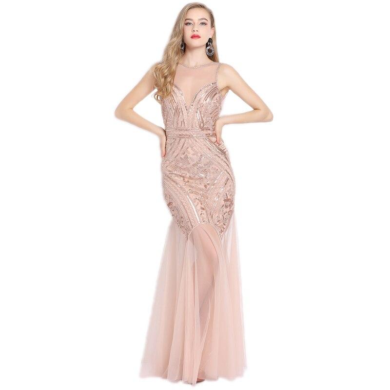Feminino sem mangas sheer longo frisado lantejoulas maxi vestido vintage 1920s great gatsby flapper festa formal vestidos