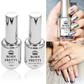 2 Bottles/Set 15ml Born Pretty Mirror Effect Nail Polish & 15ml Base Top Coat Born Pretty Mirror Polish High Quality