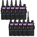 10-PCS BAOFENG radio de dos vías UV-5R negro jamón amateur Walkie Talkie de Doble banda VHF/UHF 136-174/400-520 MHz de dhl