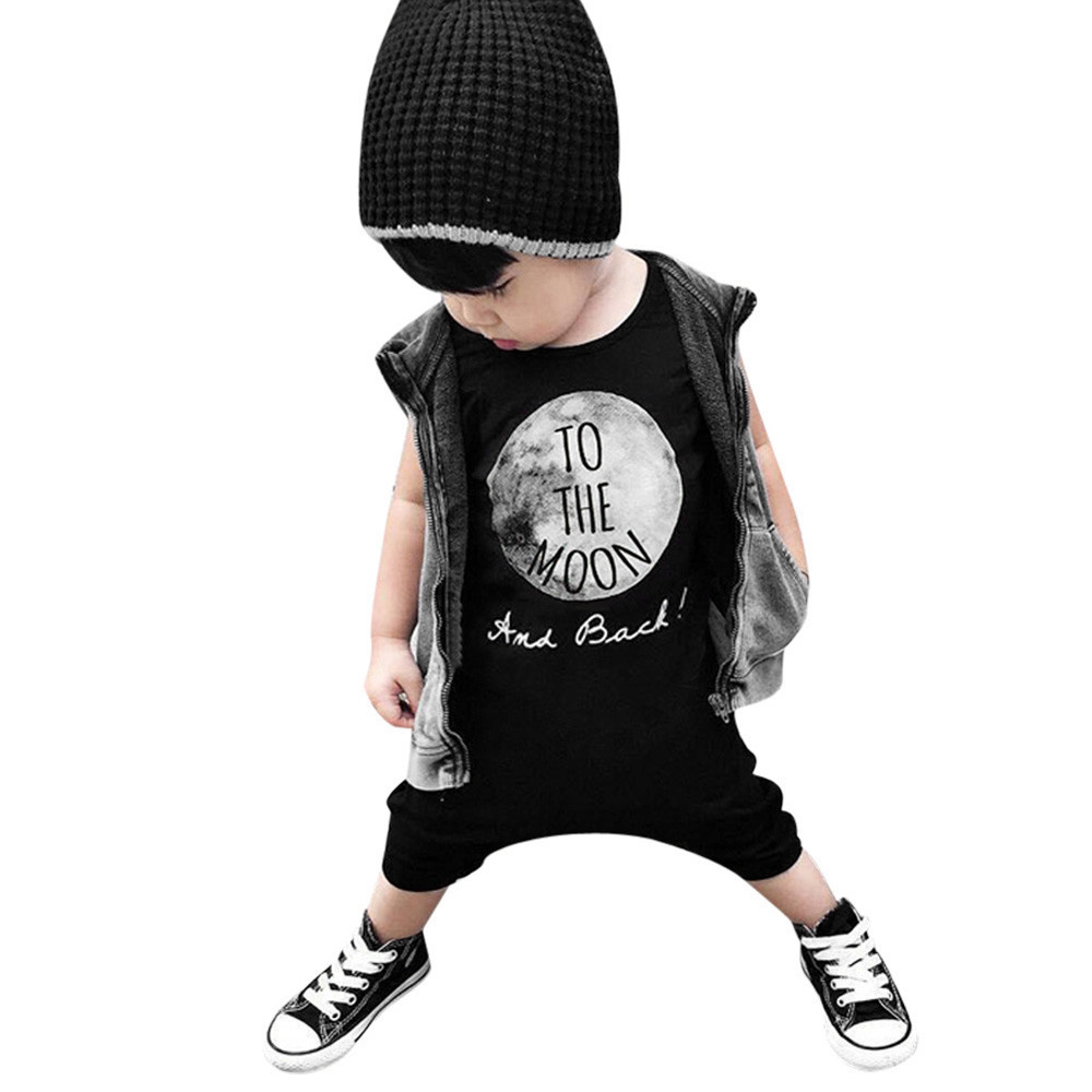 New Arrival Summer Printing Pattern Newborn Infant Kids Baby Boy Girl Romper Jumpsuit Suit Outfit Clothes Sleeveless Black newborn infant baby girl clothes strap lace floral romper jumpsuit outfit summer cotton backless one pieces outfit baby onesie