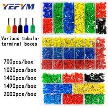 Трубчатые клеммы в штучной упаковке, различные стили, разъем электропроводки, обжимные изолированные трубки, клеммы, набор для 0,5 мм2-10 мм2 провода