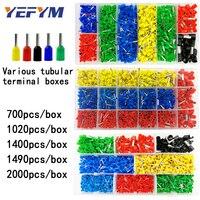 Трубчатые клеммы в штучной упаковке, различные стили, разъем электропроводки, обжимные изолированные трубки, клеммы, набор для 0,5 мм2-10 мм2 пр...