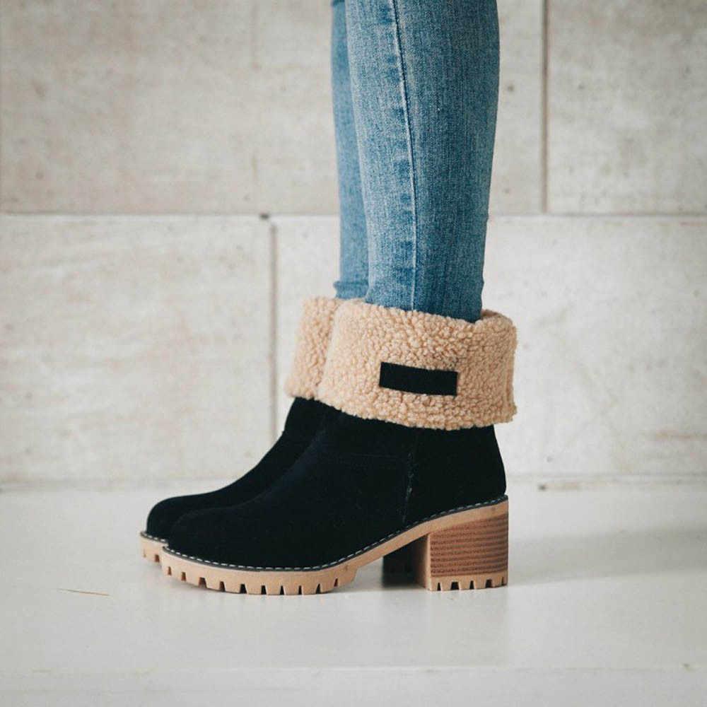 Stivali di lana caldi delle donne Della Caviglia Femminile di Avvio Martin scarpe Tacchi Alti Moda Femminile Più Il Formato