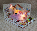 DIY Wooden Miniature Dollhouse Kit Model--Moon Bay with Light\dolls house