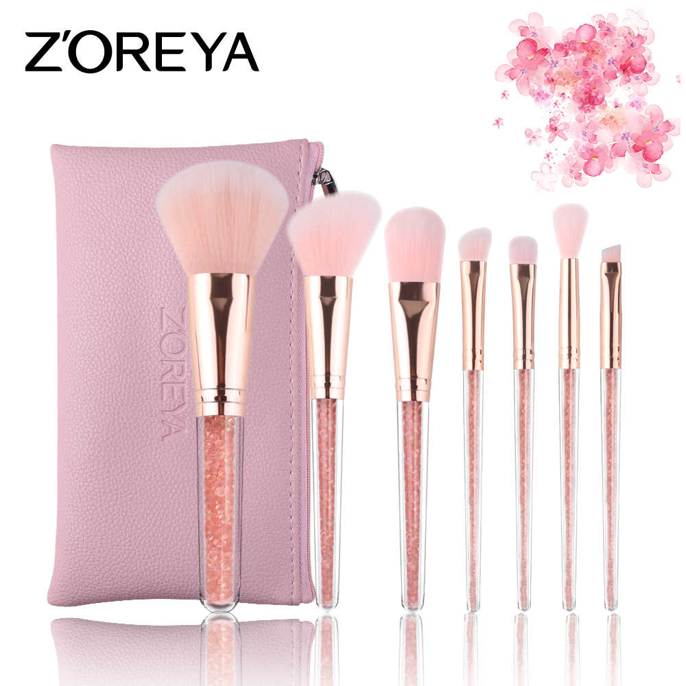 551111028264 Detail Feedback Questions about ZOREYA Makeup Brushes 7pcs Crystal ...