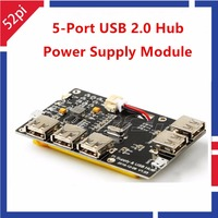 5 Port USB 2 0 Hub Power Supply Module For Raspberry Pi 3 2 Model B
