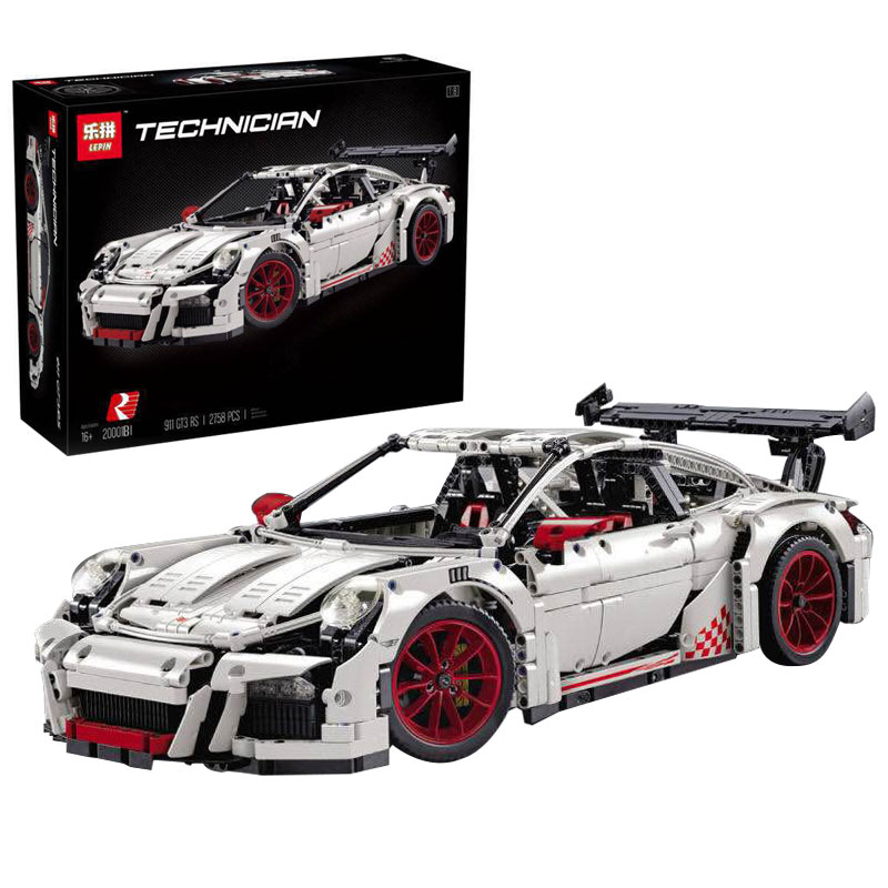 LEPIN 20001B 2758Pcs New Technic Series Classic 911 GT3 R3 Race Car 42056 Educational Building Bricks Blocks Model kids Toys