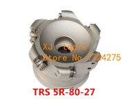 Trs 5R 80 27 6T ، سطح جولة الأنف cnc الطحن القاطع ، أدوات الطحن القاطع ، وجه الطحن القاطع رئيس كربيد إدراج RDMT10T3-في مقطع تفريز من أدوات على