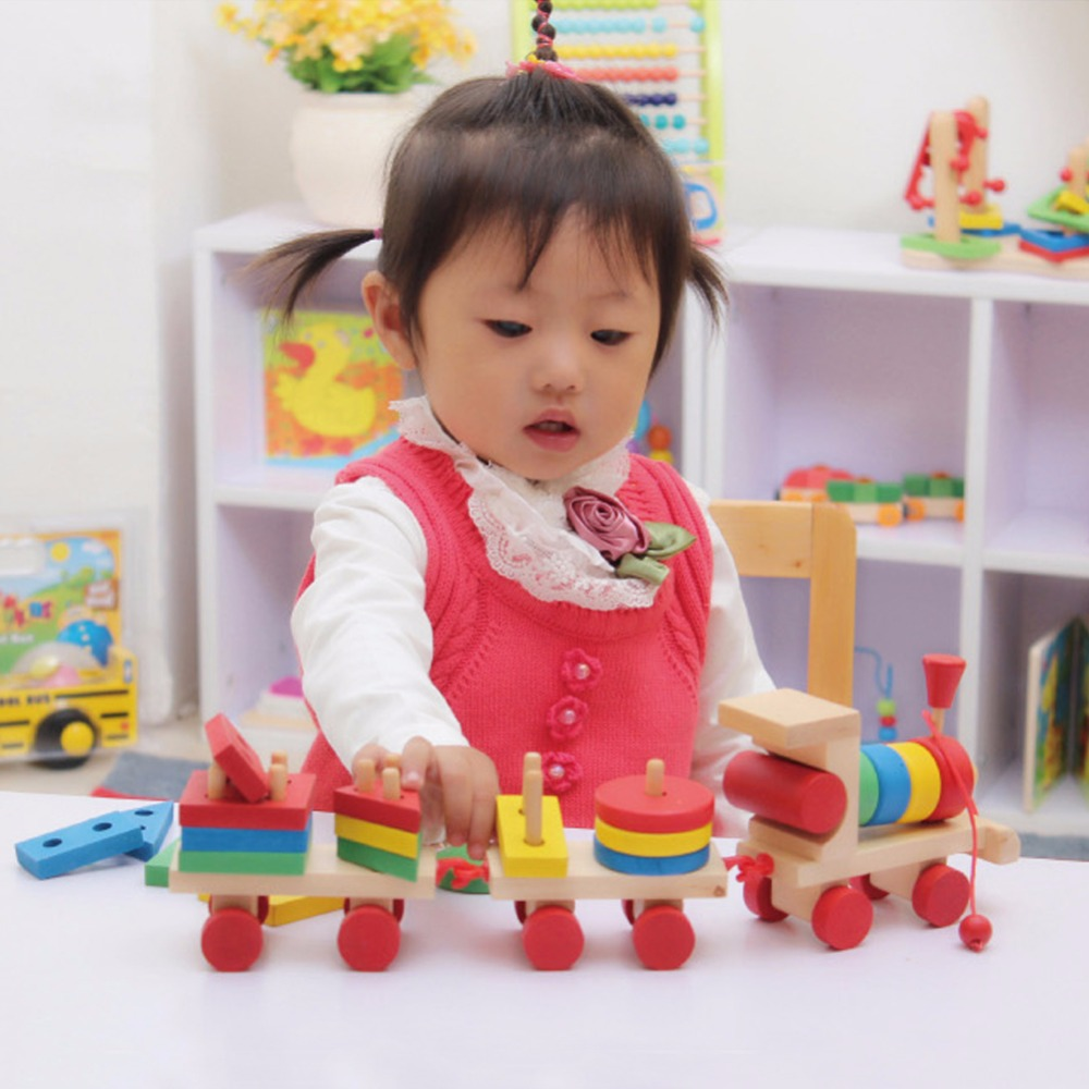 New Baby toys Kids Educational Toy Wooden Solid Wood ...