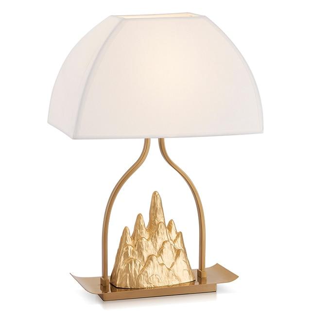 Kupfer Kleine Jinshan Tuchkunst Tischlampen Hill Tischlampe Designer