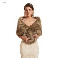 ZYLLGF Faux Fur Bridal Shawl Bolero Wedding Abrigos Mujer Elegante Wedding Accessory BT2