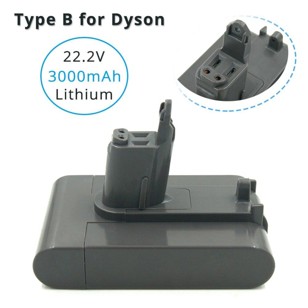 22.2 v 3000 mah Lithium Batterie De Remplacement pour Dyson DC44 Type B DC31 DC34 DC35 MK2 Aspirateur Sans Fil Batterie Seulement fit Type B