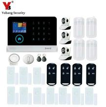 YobangSecurity Touch Keypad WIFI GSM Video IP Camera with Smoke Fire Detector PIR Motion Detector Remote Control APP Android IOS