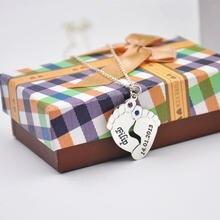 925 серебряные детские ножки Цепочки и ожерелья ручной работы