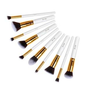 Image 5 - Jessup Brush Professional 10pcs Kabuki White/Gold Makeup Brushes Set Beauty Foundation Cosmetics Make up tools Synthetic Hair