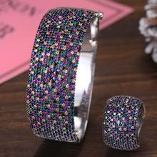 GODKI ensemble de bijoux pour femmes, bracelet de Tennis de luxe en Zircon cubique, pour mariage, CZ