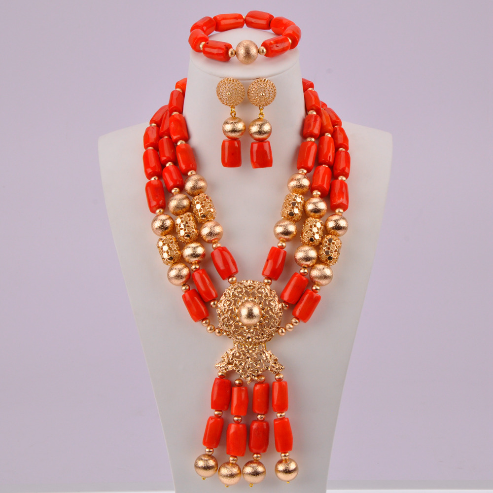 Orange Coral Beads-07-190 (2)