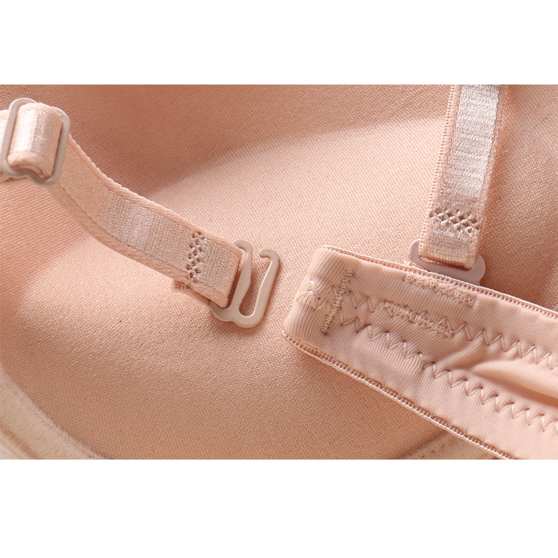 Solid Color Brief Front Button Bra Adjustable Sexy Bra Small Push Up Underwear