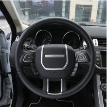 цена на ABS Chrome Steering Wheel Decorative Strips Cover Trim Stickers for Land Rover Range Rover Evoque interior Accessories 2012-2017