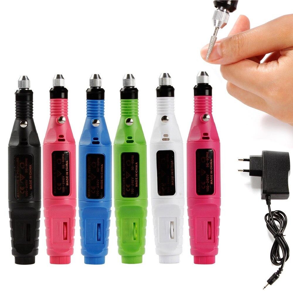 Apparecchi elettrici Per Manicure Pedicure Nail Drill Bit Frese Nail Art Cuticola Acrilica Del Gel di Rimozione Macchina UE/USA spina