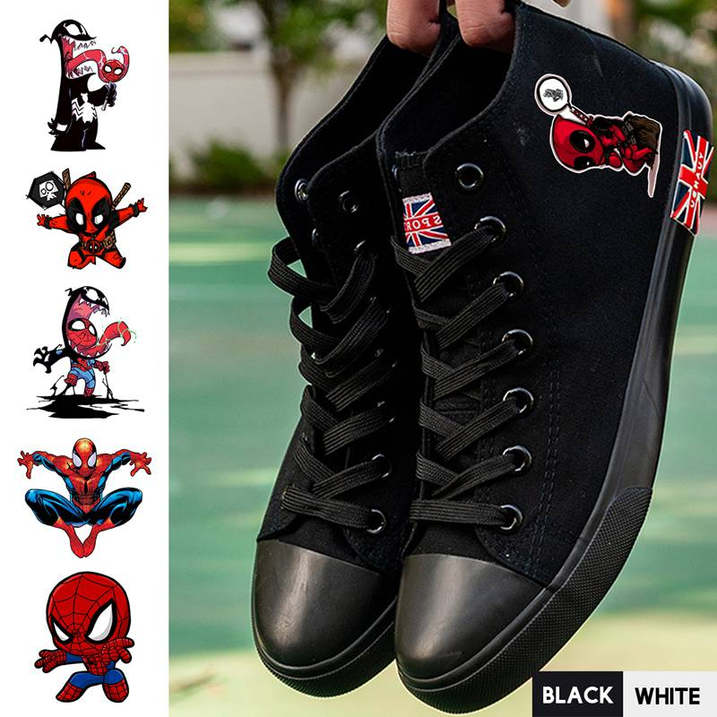 Shoes Frugal Marvel Superhero Comic Spider-man/deadpool/venom High Heel Breathable Canvas Uppers Sneakers Trendy High-topped A193291 Clients First