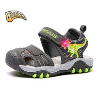 Dinoskulls Toddler Sandals Kids Light Up Shoes Baby Boys Sandals Toddler Beach Summer Shoes 2019 Dinosaur Children's Sandals