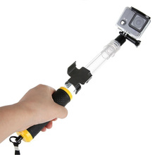 Discount! For Gopro Selfie Stick Transparent Waterproof Telescopic Monopod Install Remote Control Bluetooth for GoPro HERO 5 4 3 3+ 2 1