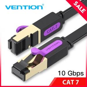Image 1 - Vention Ethernet Cable RJ45 Cat7 Lan Cable STP Network Cable 1M 2M 3m 5m 8m 10m 15M  patch cord Cable for PC Router Laptop Cat 7