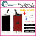 Mix Sale High AAA No dead point quality for iPhone 5 Smartphone LCD + Touch Pad + Repair Tool Set + LCD Frame Digitizer Assembly