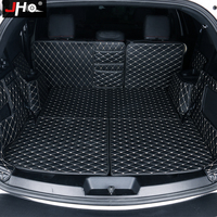 JHO Full Surround Rear Trunk Mats Cargo Liner Tray Carpets For Ford Explorer 7seats 2011 18 12 13 14 15 16 17 Embroidery Leather