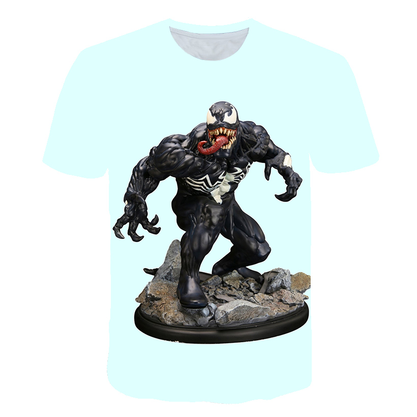 Новейшая футболка Веном с 3D принтом, футболка s для мужчин и женщин, Повседневная футболка с коротким рукавом для фитнеса, футболка Дэдпул, футболки с черепом, топы азиатского размера - Цвет: 1569