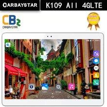 De Computadora nueva K109 4G LTE Android 6.0 10.1 pulgadas tablet pc octa core 4 GB RAM 64 GB ROM 5MP IPS Tabletas Teléfono 1920X1200 MT8752