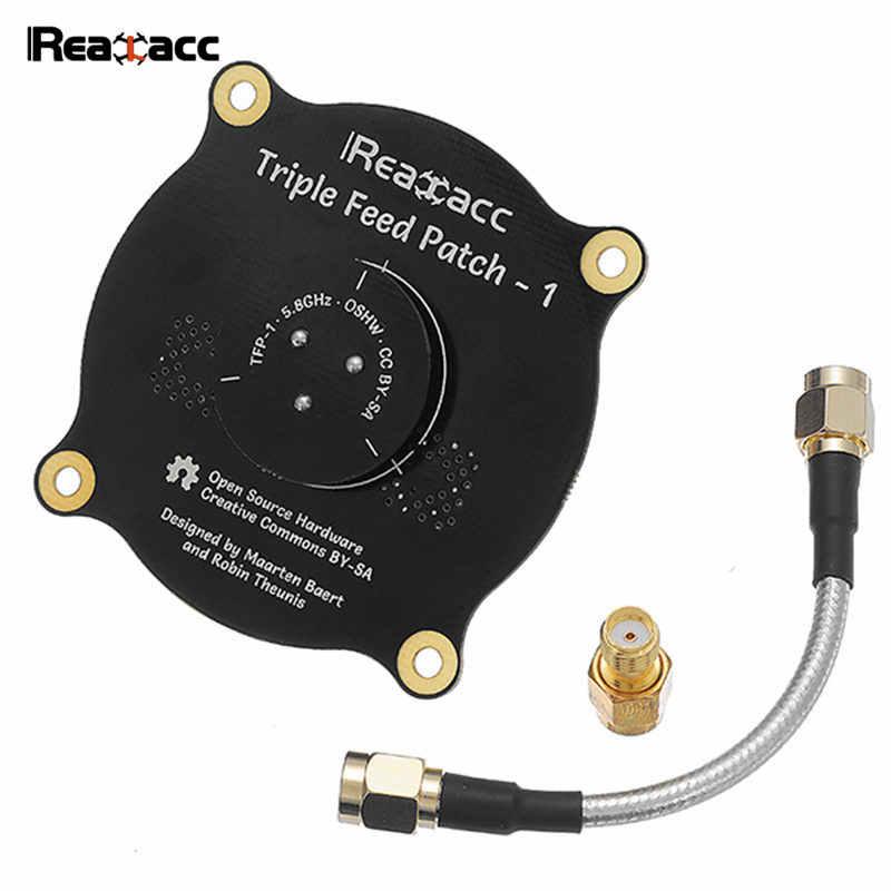 Realacc 5,8 ГГц 9.4dBi Тройная патч-антенна SMA/RP SMA Направленная круговая поляризованная FPV антенна для очки Fatshark