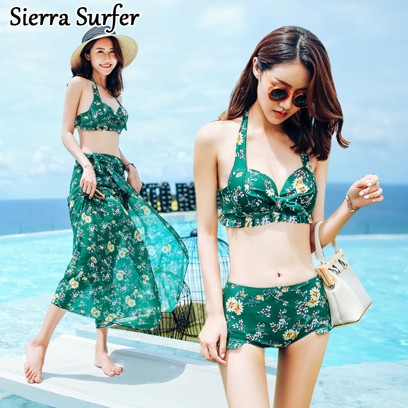 Swimming Suit For Women May Beach Push Up Bikini Tops Plus Size Swimwear New 2018 Three Piece Bathing Sexy One Undertakes plus size swimwear women fashion beach swimsuit 2018 new sexy hot sale floral print bathing suit push up swimming suit qpladlse