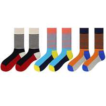 WH SOKKEN Happysocks funny Colorful cotton stocks breathable casual style striped pattern gift shark