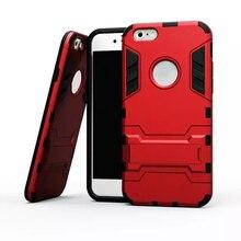 Для iPhone 6 Дело Противоударный Робот Броня Гибридный Прочная Резиновая Крышка тонкий Жесткий Kickstand Чехол Для телефона Для iphone 6 s 4.7″