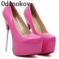NOSOTROS El Tamaño 12 Zapatos de Fiesta Para Las Mujeres Talones Estupendos 16 ultra-14cm Zapatos de Tacón Zapatos de Boda de Cuero Japanned zapatos de mujer tacon