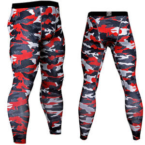 3D Printed Camouflage Joggers Leggings Men Quick Dry Compression Pants Fitness Tights Casual Trousers Long Pants