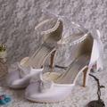 (20 Цветов) 2016 Новый Белый Цвет Женщины Высокие Каблуки Свадебные Свадебные Туфли 2014