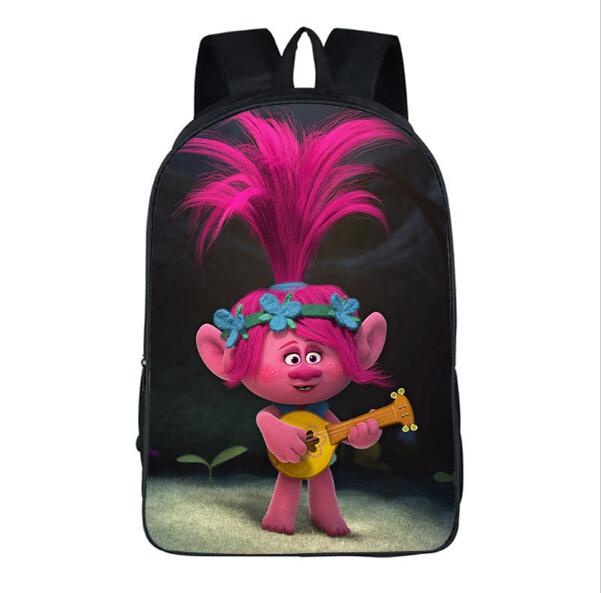 New Arrivals 16-inch Mochilas Infantil Trolls Bag Cartoon Backpack Kids Boys Age 7-13 Children School Bags For Girls Bookbag