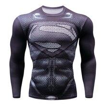 2018 Marvel Superhero Winter Soldier Bucky 3D Mnner T-Shirt Fitness Long Sleeve Compression Hemd Men MMA Mens