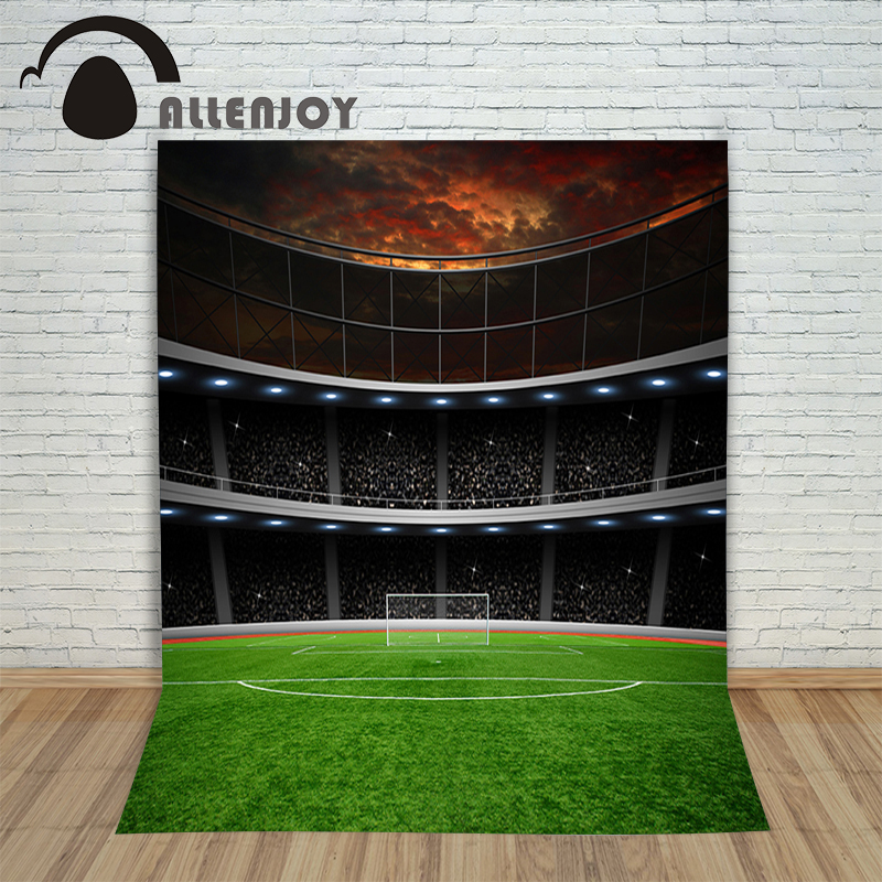 цены  Vinyl photo studio background Football game backdrop picture children's photocall
