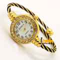 Bangle Bracelet Stainless Steel Crystal Arabic Wrist Watch Hour Women Lady Girl