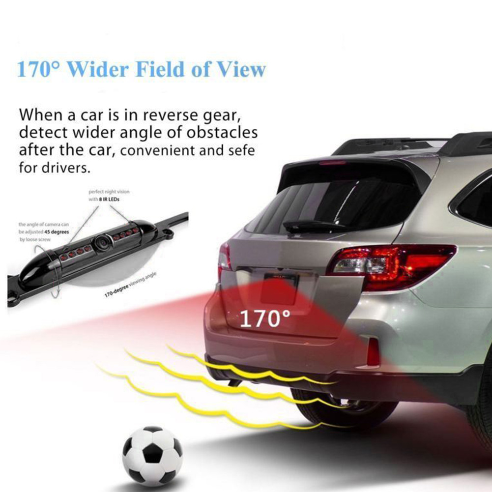 Image 4 - License Plate Frame With Camera Led Auto Reverse Waterproof Universal HD Cars Auto Accessories Night Vision Rear View Backup-in License Plate from Automobiles & Motorcycles
