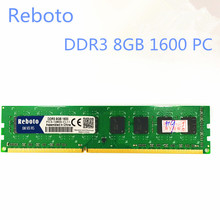 Reboto  DDR3  8GB 1333MHZ 1600MHZ PC12800 desktop PC3-10600 RAM Memory
