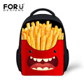 Funny French Fries Printing School Bags for Boys Girls Cute Emoji Smile Small Children Backpack Toddler Baby Bagpack Kid Mochila