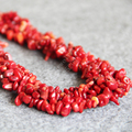 T8292 New 3 row 6-8mm Natural Irregular Red Coral Necklace,Fashion charming women jewelry wholesale FREE SHIPPING