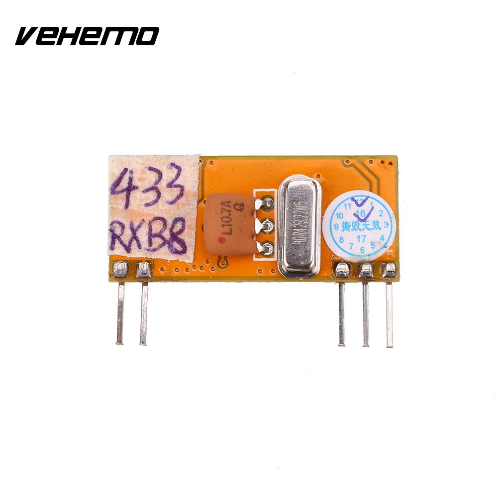 Vehemo 433MHz-114dBm DC3-5V Multi Use Wireless Remote ASK RF Signal Receiver Module ...