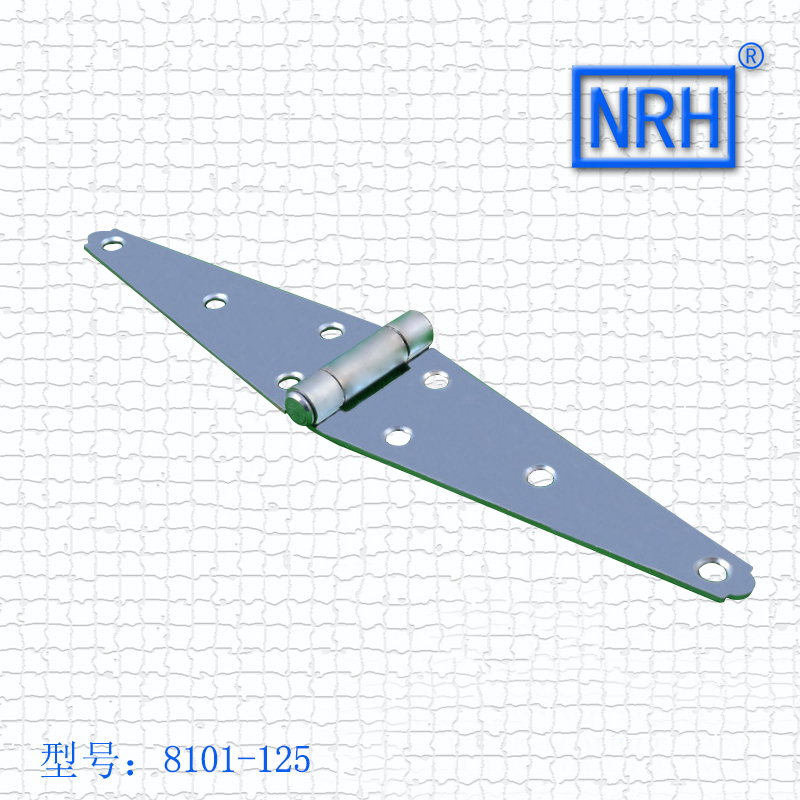 NRH 8101-125 GB cold rolled steel blue zinc plating Strap Hinge wooden case Strap Hinge High quality factory direct sales nrh 5619a 230 cold rolled steel latch clamp wholesale price high quality horizontal pull toggle clamp zinc plating