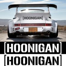Hoonigan печать автомобиля окна двери наклейки самоклеющиеся гонки отражательные наклейки для автомобилей стикер